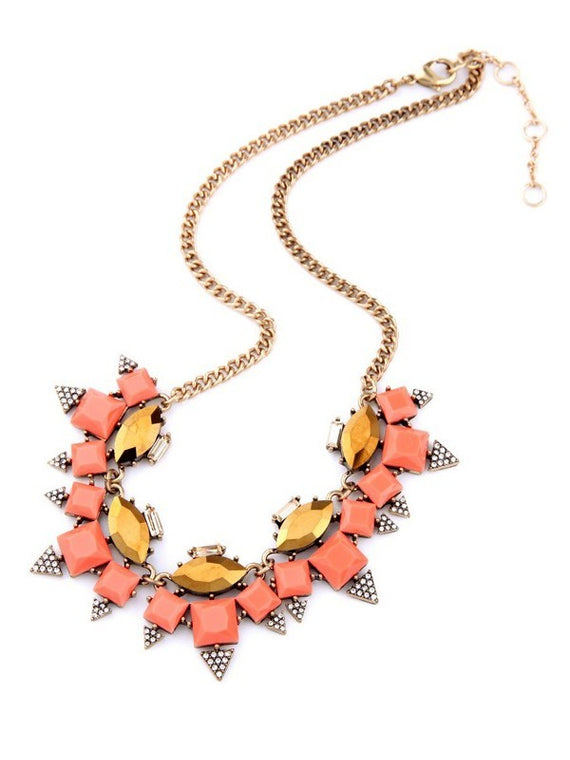 Erica Nikol Sophia Collar Statement Necklace Pendant