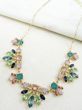 LA3accessories Multi-Colored Mini Statement Necklace