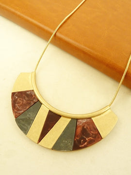 LA3accessories Marbled Resin Mini Statement Necklace
