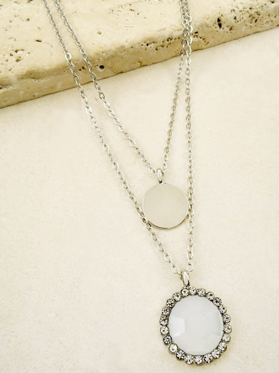 LA3accessories Simple Layered Circle Necklace