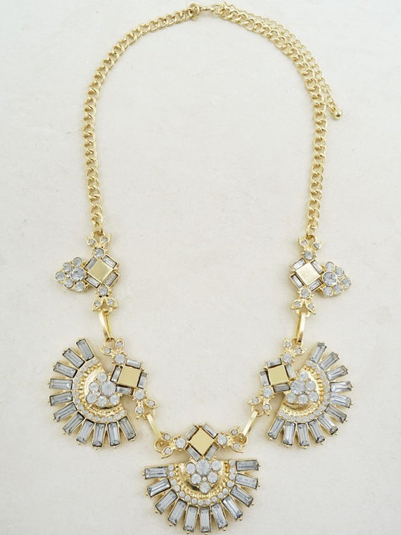 LA3accessories Boho Crystal Statement Necklace