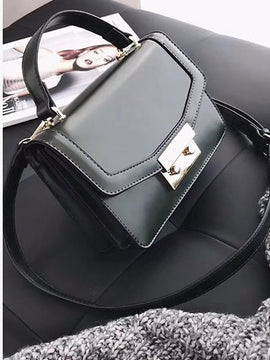 Faux Leather Fashion Shoulder Strap Bag