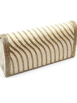 Stone & Pearl Clutch Bag with Detachable Strap