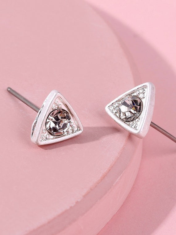 Erica Nikol Ophelia Triangle Stud Earrings