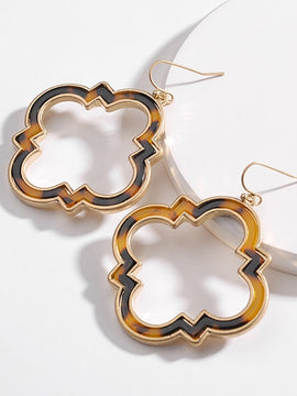 Erica Nikol Meridia Clover Ombre Drop Earrings