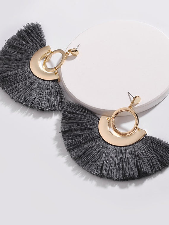 Erica Nikol Felicity Fringe Drop Earrings