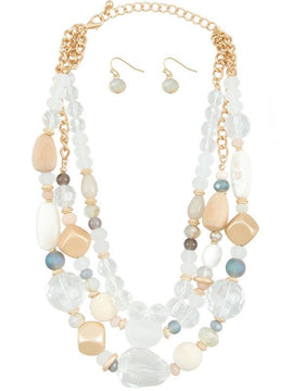Makarlon Multi Stone Beaded Necklace Set