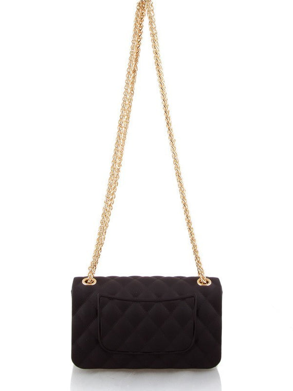 Vegan Quilted Matte Jelly Mini Shoulder Bag