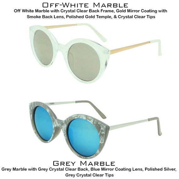 Dazey Shades Marble Fashion Sunglasses