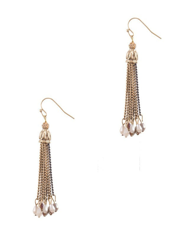 Euro Collection Chain Layered Earrings