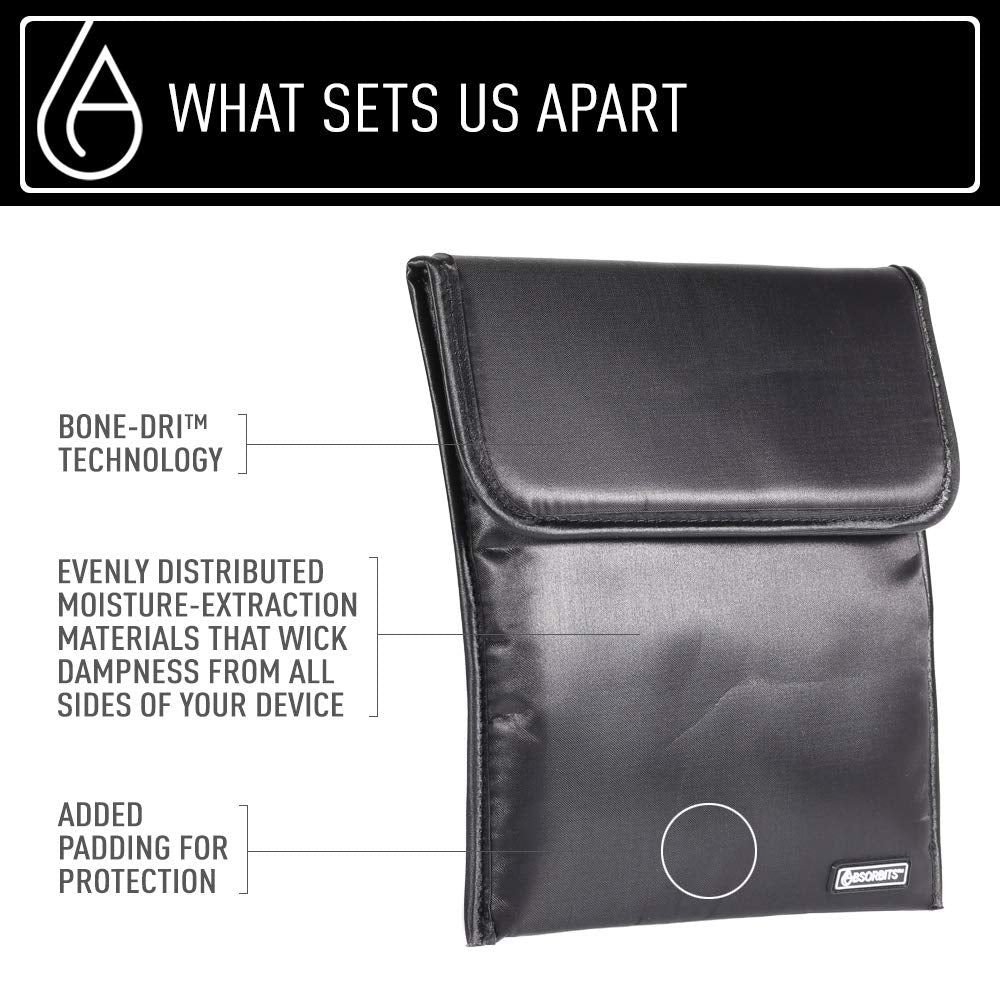 Bone-Dri™ offered by Absorbits Tablet Rescue Pouch with Bone-Dri technology !! As seen on NBC ! - Absorbits