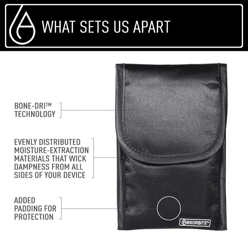 Bone-Dri™ offered by Absorbits Wet Phone Rescue Pouch - Saves Smartphones from Water Disasters - As Featured on NBC - Absorbits