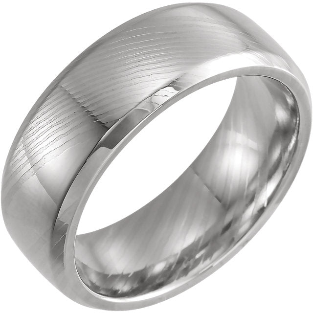 Damascus Steel Comfort-Fit Band