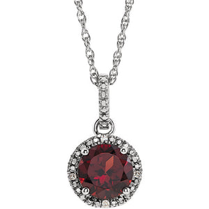 Birthstone Halo Necklace