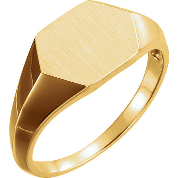 Geometric Signet Ring