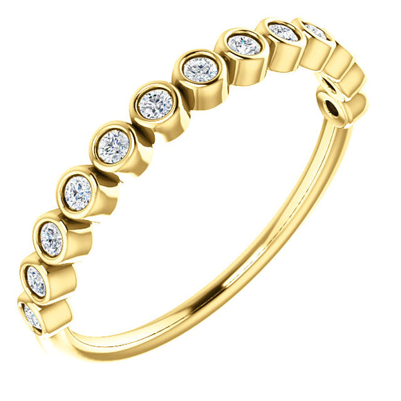 Round Bezel Diamond Stackable