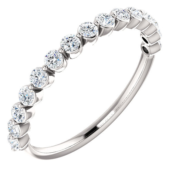 Single Prong Diamond Band