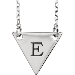 Sterling Geometric Initial Necklace