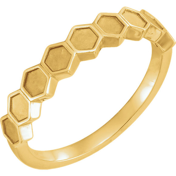 Honeycomb Geometric Ring