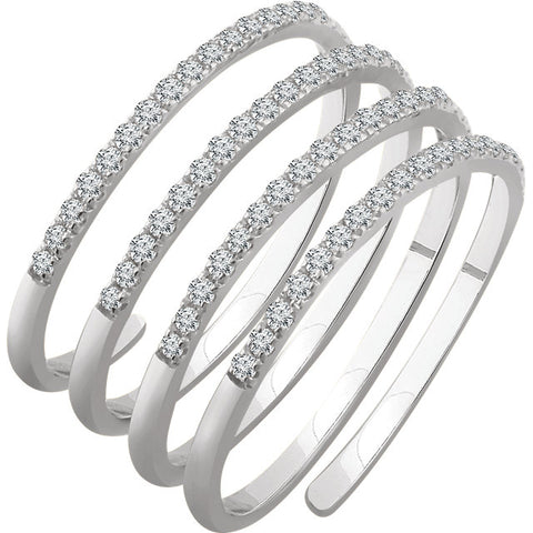 Spiral Diamond Ring