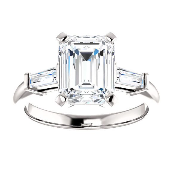 Tapered Baguette Engagement Ring