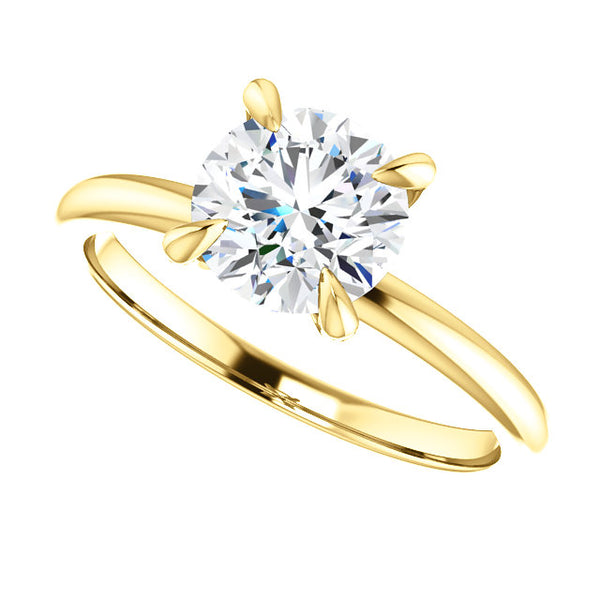 Slim Solitaire Engagement Ring