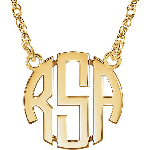 Block Monogram Necklace - WPS!