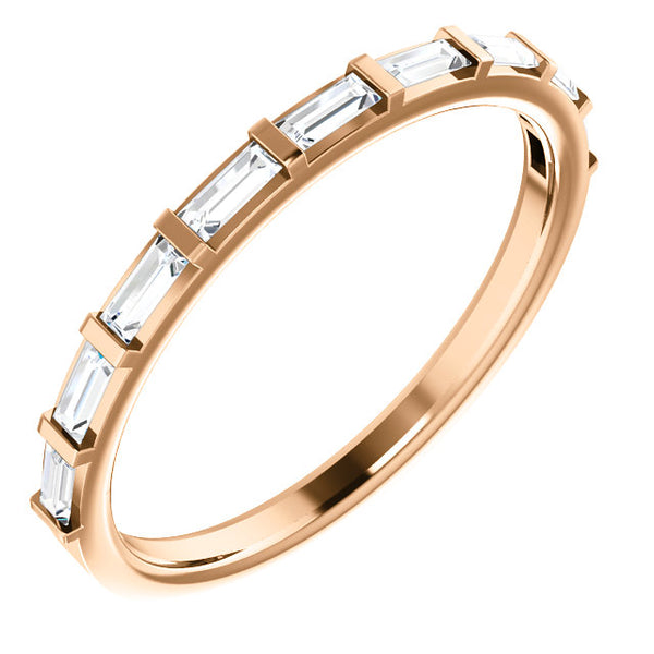 Straight Baguette Diamond Band