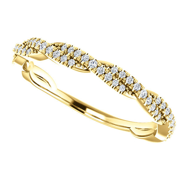 Interlaced Diamond Band