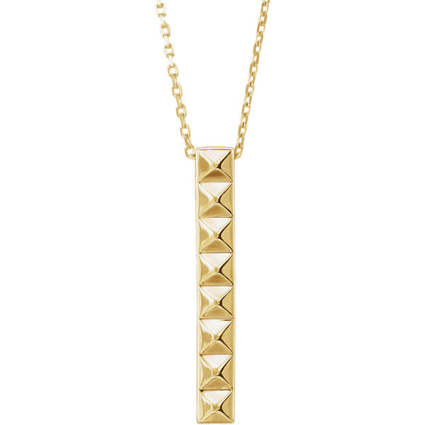 Pyramid Bar Necklace