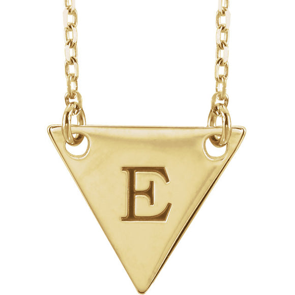 Gold Geometric Initial Necklace