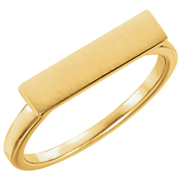 Slim Bar Signet Ring