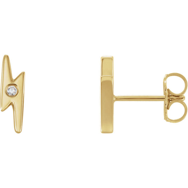 Diamond Lighting Bolt Earrings