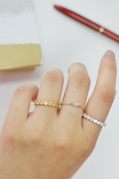 Chain Baguette Ring