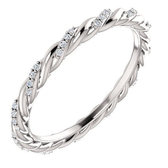Diamond Rope Eternity Band