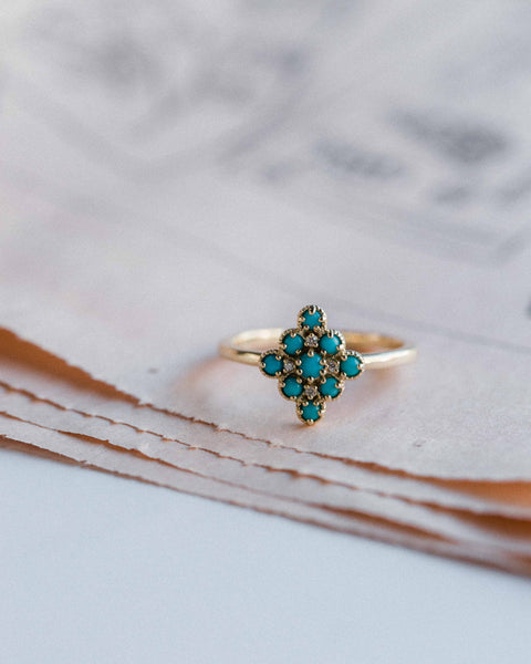 Turquoise / Opal Vintage Inspired Ring