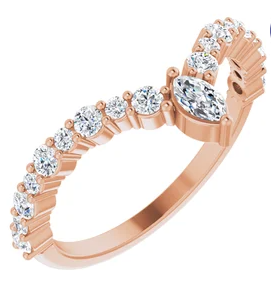 "14K Rose 1/2 ctw Diamond ""V"" Ring"