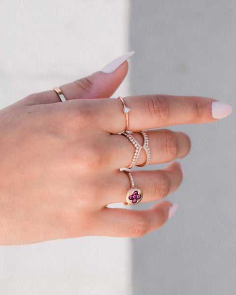 Accented Negative Space Ring