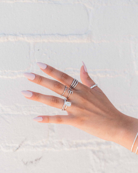 3 Row Stacked Ring