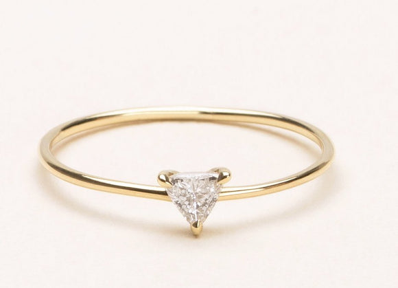 Petite Trillion Diamond Ring
