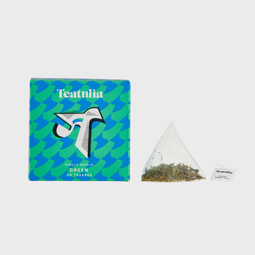 Green Silk Pyramid Teabags