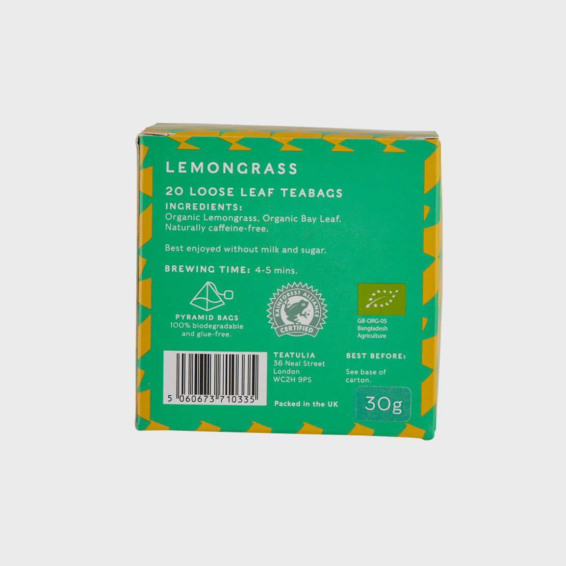 Lemongrass Silk Pyramid Teabags