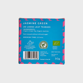 Jasmine Green Silk Pyramid Teabags