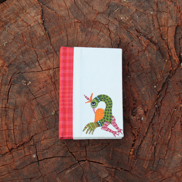 Gond Art Pocket Notebook - Peacock Motif