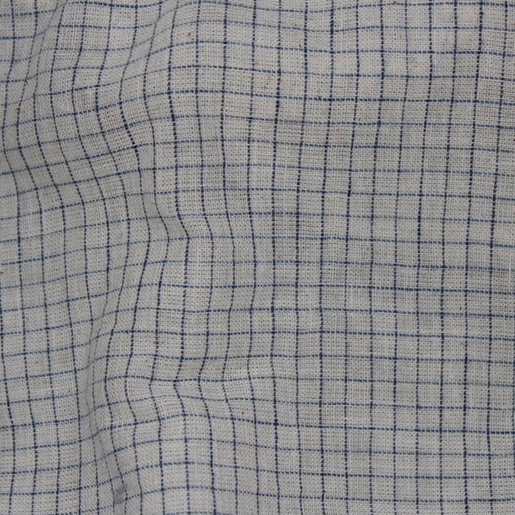 Perfect Squares Kala Cotton Fabric - Blue and White