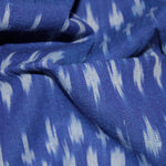 Streaks in the Sky Ikat Fabric - Blue (Cut Piece)