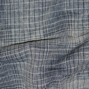 Perfect Squares Kala Cotton Fabric - Blue Checks