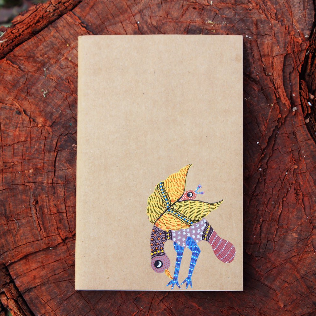 Gond Art Notebook - Bird