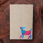 Gond Art Unruled Notebook - Blue Deer