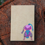 Gond Art Unruled Notebook - Bull Motif